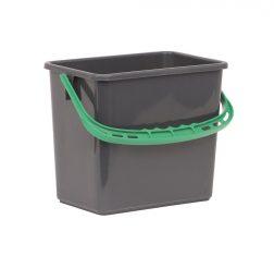 Hink 6 liter grå grönt handtag