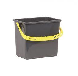 Hink 6 liter grå gult handtag